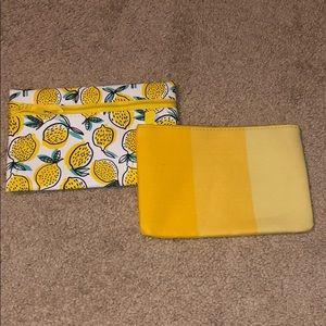 Yellow Makeup Bags